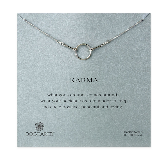 dogeared original karma necklace in sterling silver (16in - 18in) - shophearts - 2