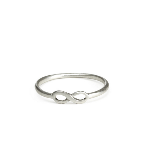 dogeared - infinite love infinity ring - gold or silver - shophearts - 1