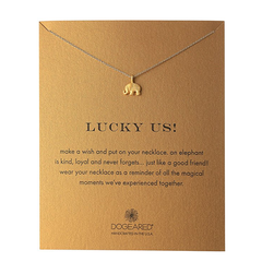 dogeared - lucky us elephant reminder necklace - shophearts - 1