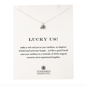 dogeared - lucky us elephant reminder necklace - shophearts - 4