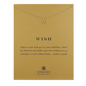 "dogeared 'reminder wish teeny wishbone necklace' 16"" gold dipped - shophearts - 2"