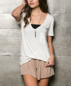 tease me oversize soft v neck tshirt (more colors) - shophearts - 3