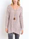 oversize cross back knit sweater - marle mauve - shophearts - 4