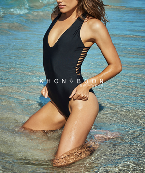 khongboon - bologna black strappy one piece - shophearts - 4