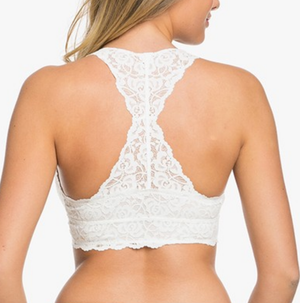 racer back all over scalloped lace bralette (6 colors) - shophearts - 11