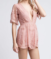 as you wish embroidered lace romper (women) - black - shophearts - 3