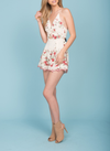 Final Sale - Cherry Picking - Floral Embroidered Romper - More Colors