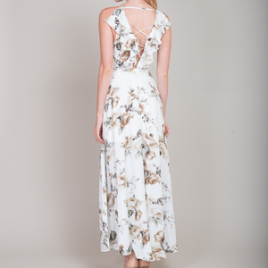 Isabella Floral Maxi Dress in White