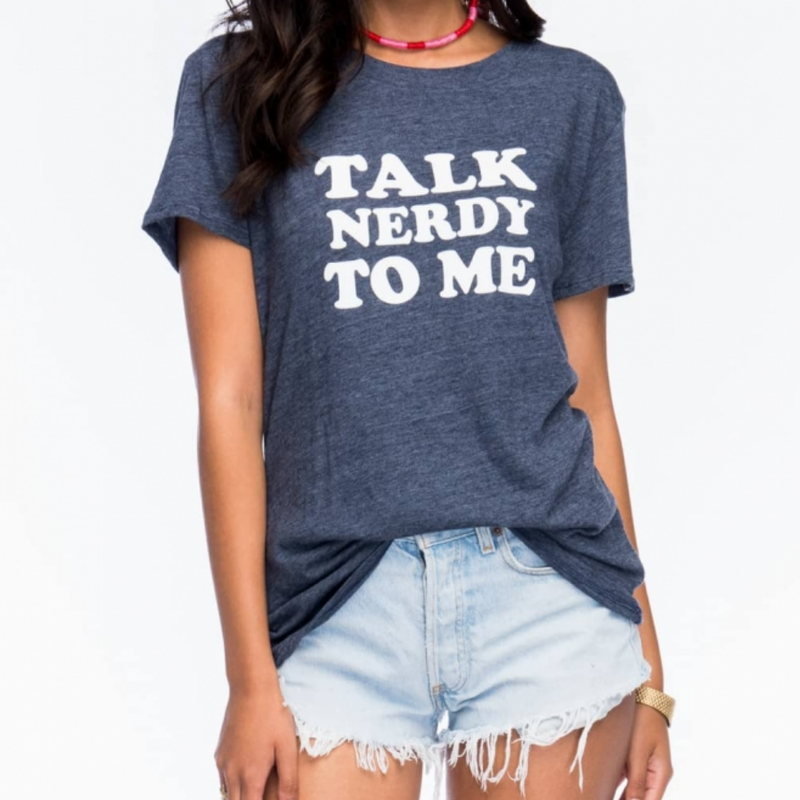 Sub_Urban Riot - Talk Nerdy Loose Tee in Navy