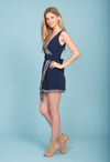 Selfie Leslie Songbird Wrap Dress in Navy