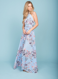 open back floral maxi dress - more colors