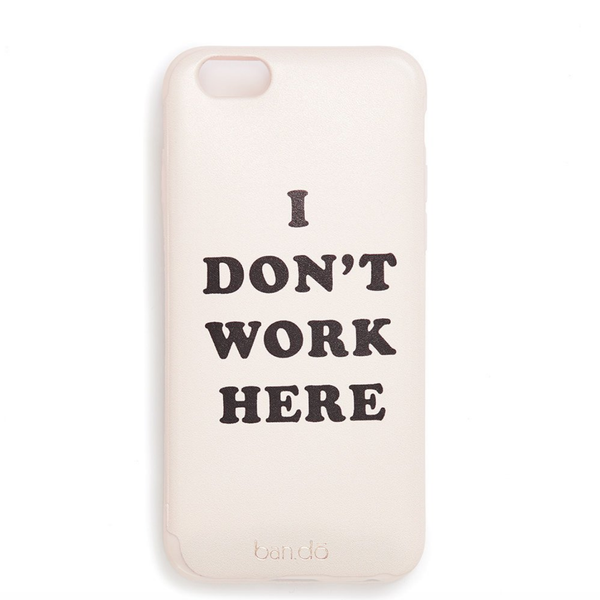 ban.do - leatherette iphone 6/6s case - i don't work here