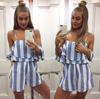 paper heart - havana nights striped romper - more colors