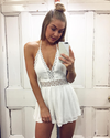 paper heart - playa del rey open back romper - more colors