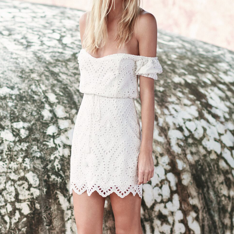The Jetset Diaries - Santa Fe Mini Dress in Ivory