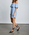 frilled about you off the shoulder striped dress - more colors