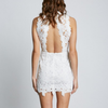 lace me up dress with open back - more colors
