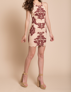 Up All Night Scallop Edge Lace Dress in More Colors