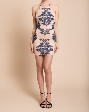up all night scallop edge lace dress - more colors