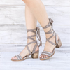 Miracle Miles - City Chic Wrap Suede Sandals in More Colors