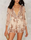 reverse - life of the party sequin romper - more colors