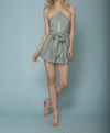 final sale - hamptons open back romper - more colors