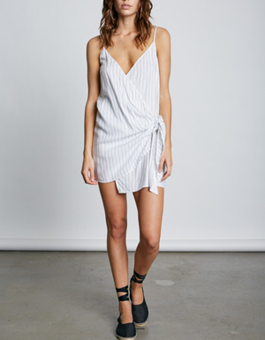 chiara striped wrap dress - more colors