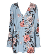 minkpink - new romantic floral playsuit/ romper - blue/multi