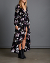 hollywood hills dress - black/floral