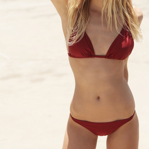Final Sale - Minkpink Swim - Rosa Triangle Bikini Separates in Burgundy