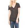 The Go-To Jersey Short Sleeve Deep V-Neck Tee in Black Marble