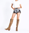Miracle Miles - 1812 Knee High Suede Lace Up Boot in More Colors
