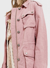 Final Sale - Alexa Woven Jacket - Mauve
