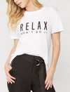sub_urban riot - relax don't do it loose triblend tee - white