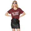 sub_urban riot - let's pretend this never happened loose graphic triblend tee - burgundy