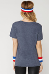 Final Sale - Sub_Urban Riot - Ath-Lazy Loose Triblend Graphic Tee - Navy