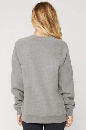 suburban riot - good vibes willow sweatshirt - heather grey