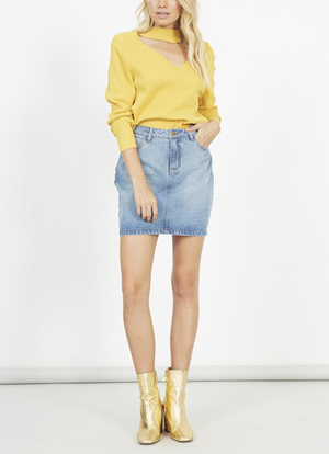 minkpink - rise jumper knit sweater - marigold