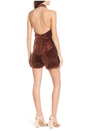 Final Sale - 4SI3NNA - Knotted Velvet Romper in Dusty Copper