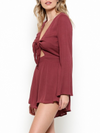 Final Sale - A Love Like This Romper - Mauve