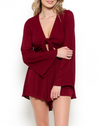 Final Sale - A Love Like This Romper - Burgundy