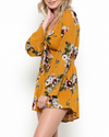 Final Sale - A Love Like This Romper in Floral Mustard