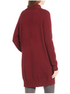 dreamers by debut - cozy open cardigan - burgundy