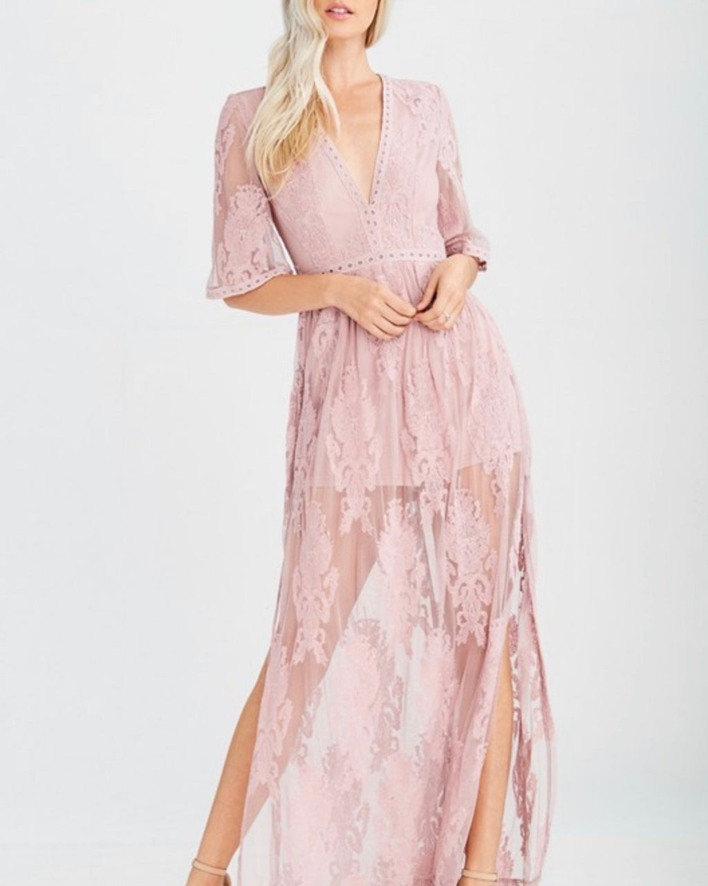 as you wish embroidered maxi dress - more colors