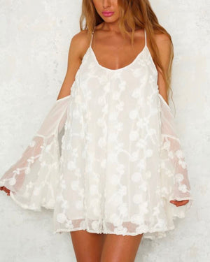 falling for you - off the shoulder dress - white