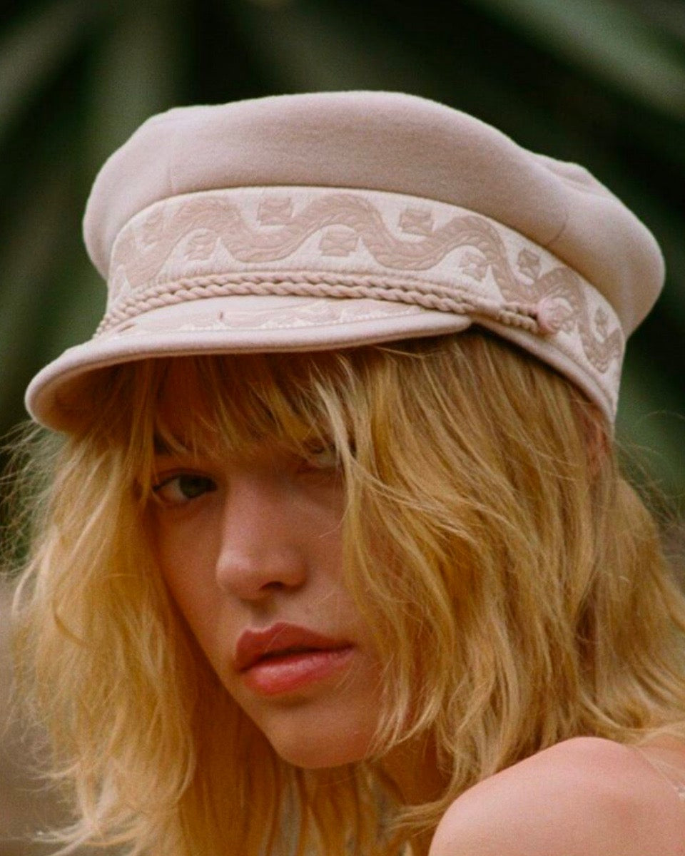 Lack of Color - Riviera Newsboy Cap in Pastel Pink