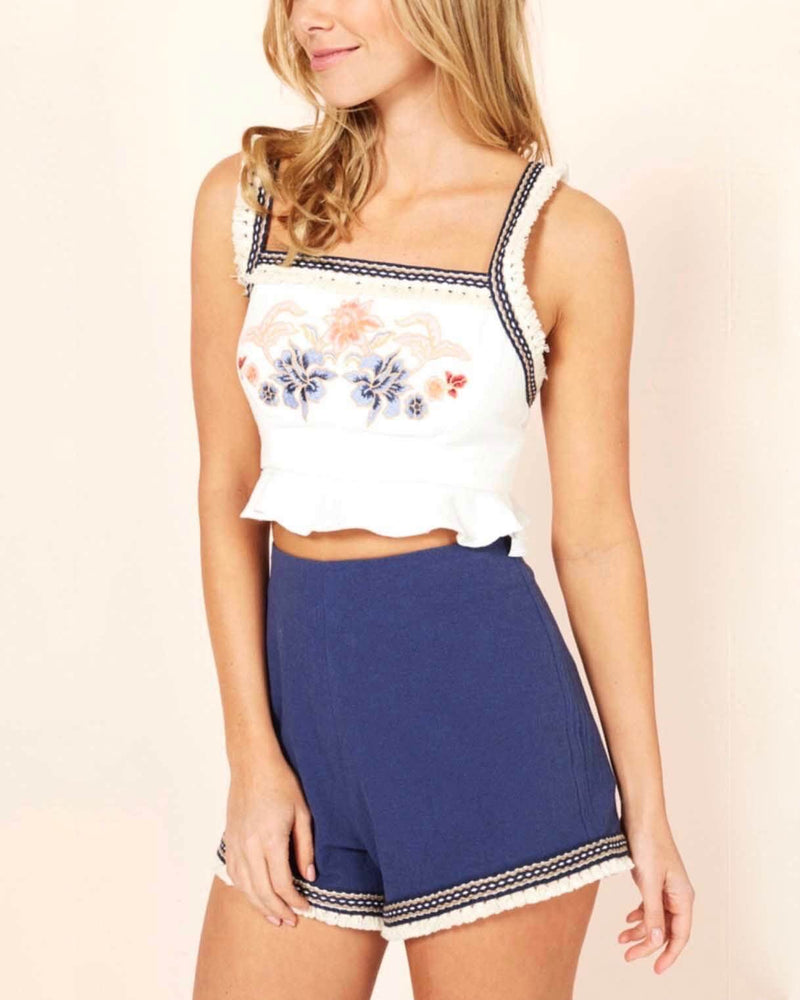 Final Sale - MINKPINK - Women's Lost & Found Shorts in Navy