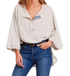 Free People - We The Free Hong Kong Henley Tee in Natural