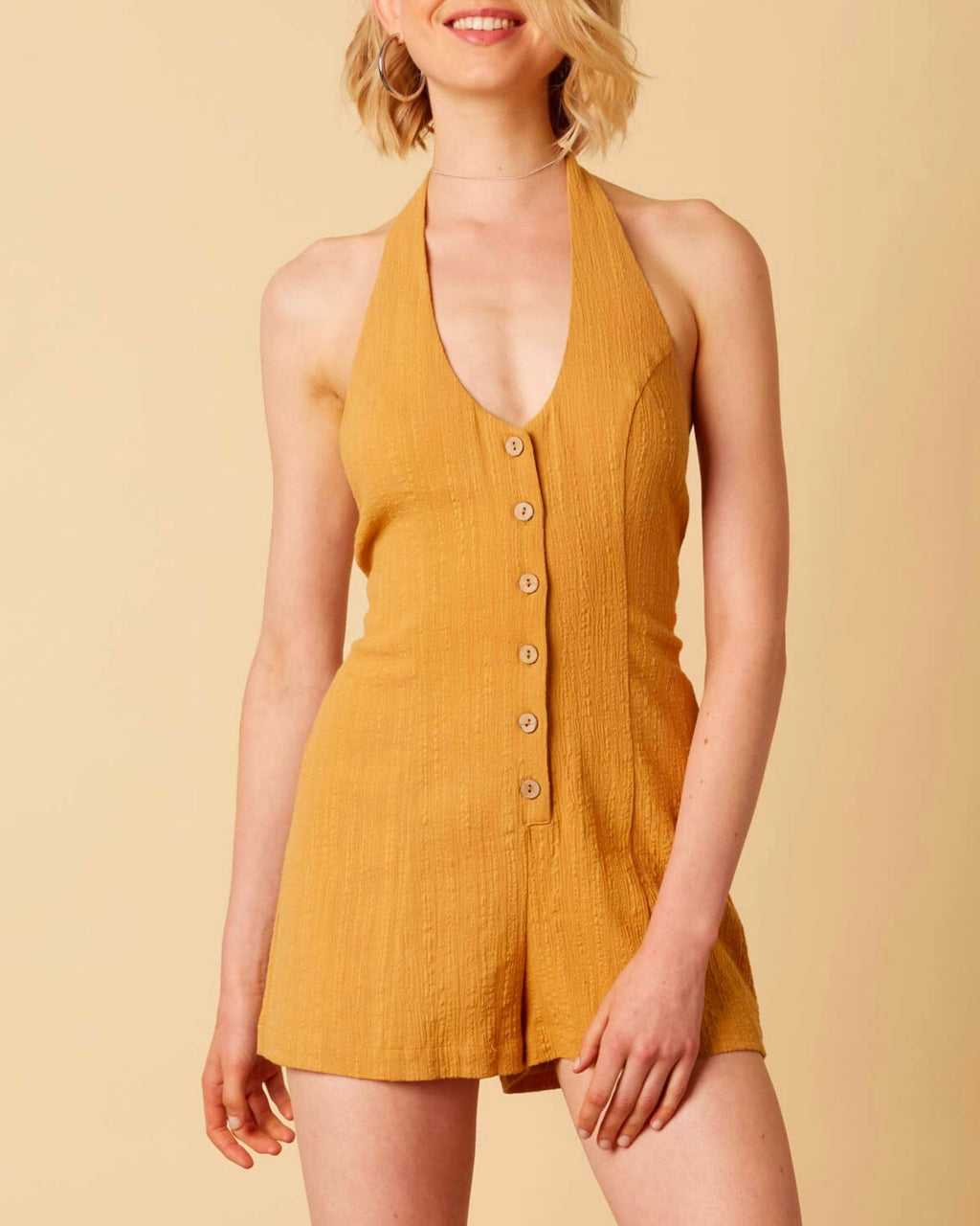 cotton candy - fairgrounds romper - dijon mustard