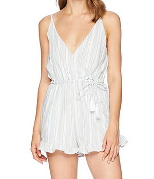 minkpink - women's sage stripe playsuit